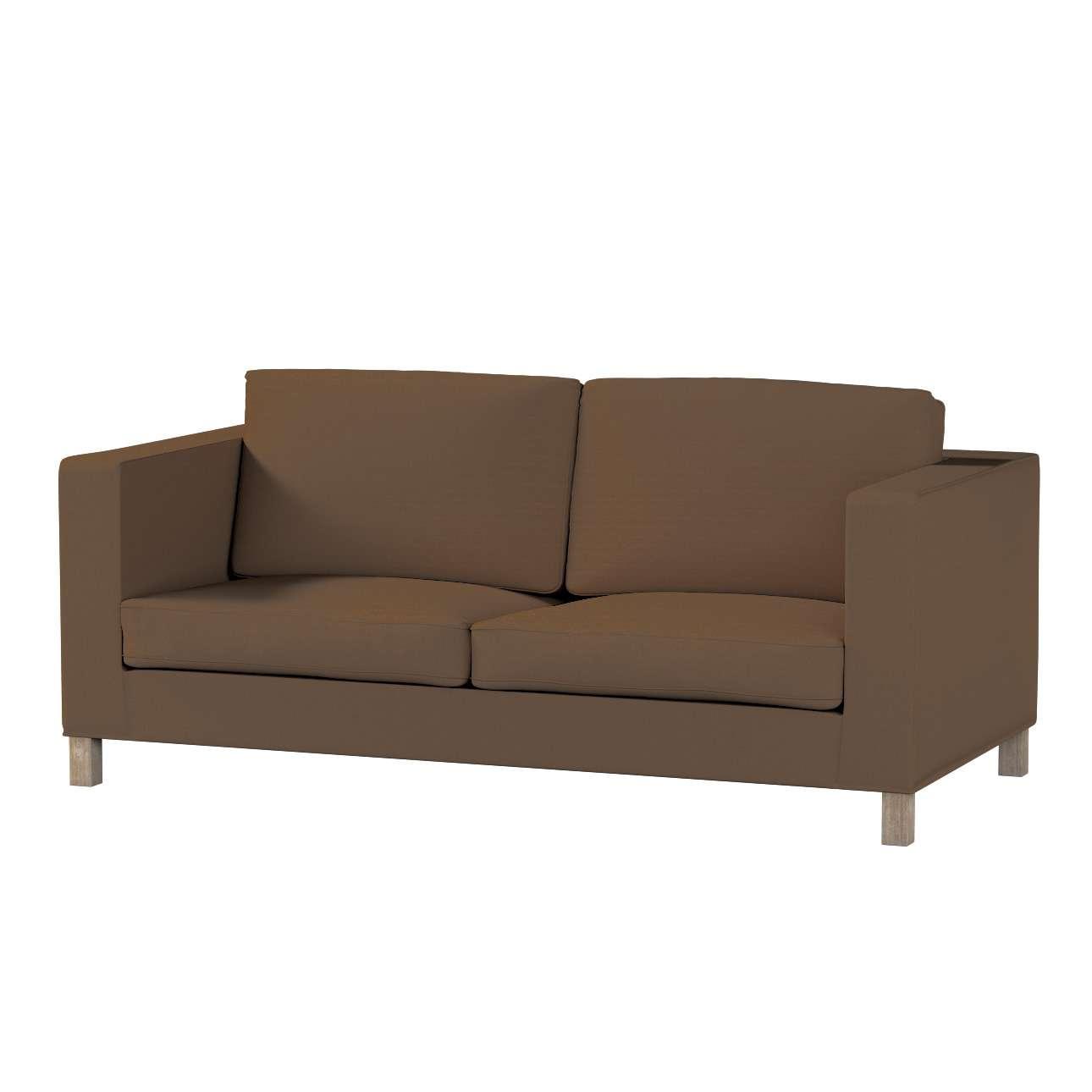 Pokrowiec na sofę Karlanda rozkładaną, krótki Sofa Karlanda rozkładana w kolekcji Cotton Panama, tkanina: 702-02