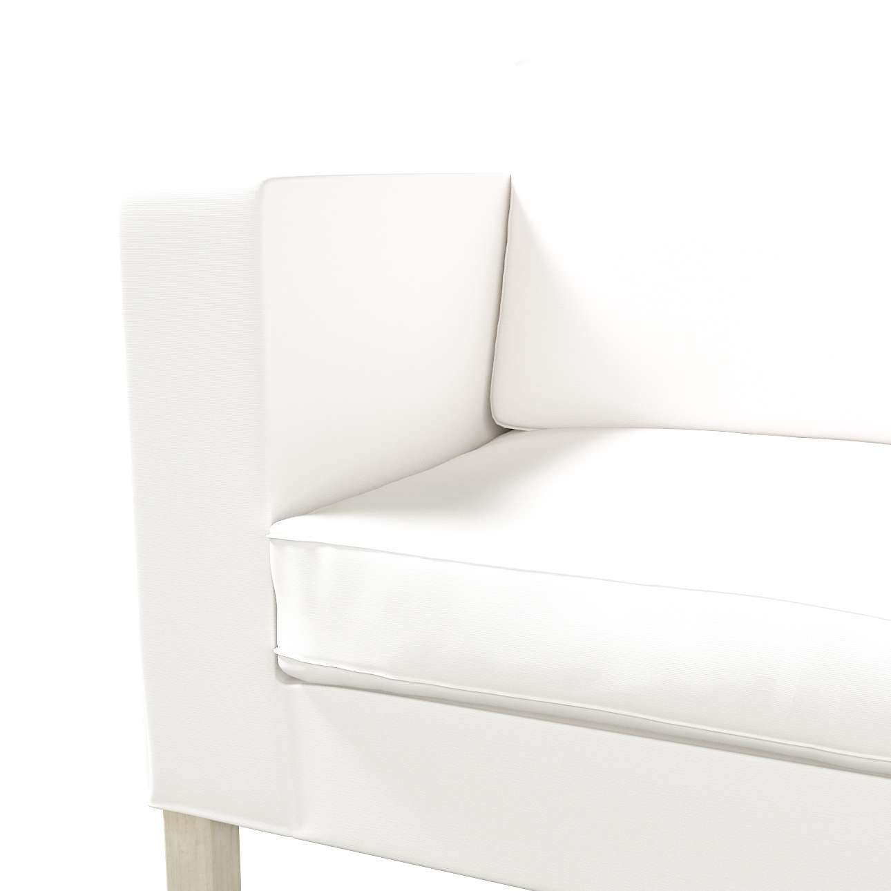 Karlanda betræk sovesofa, kort fra kollektionen Cotton Panama, Stof: 702-34