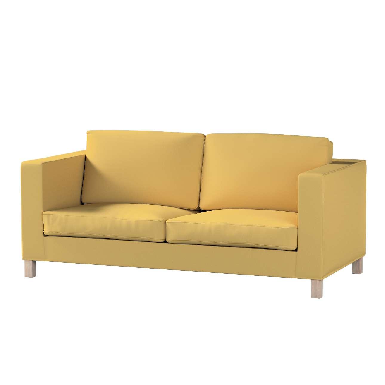 Pokrowiec na sofę Karlanda rozkładaną, krótki w kolekcji Cotton Panama, tkanina: 702-41
