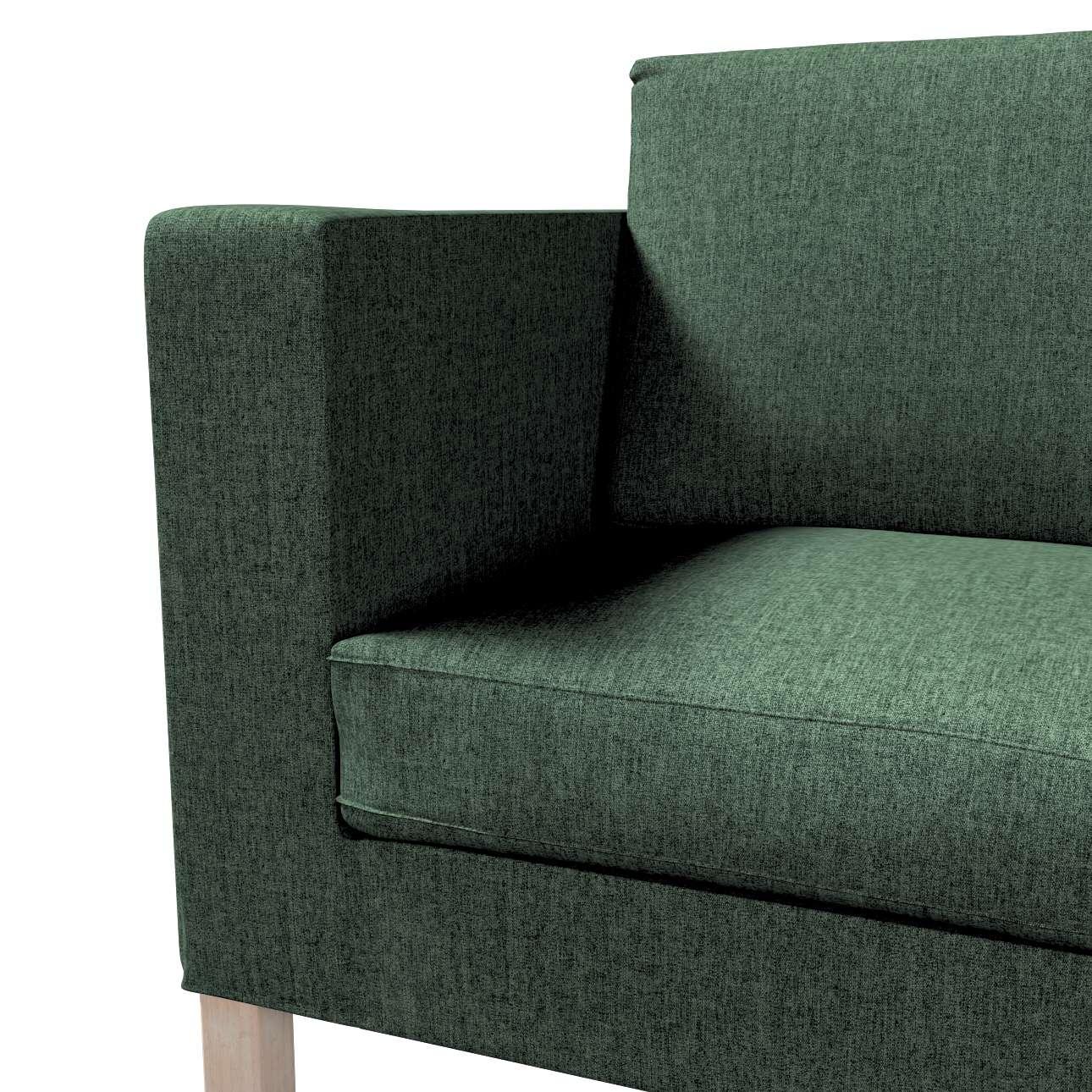 Pokrowiec na sofę Karlanda rozkładaną, krótki w kolekcji City, tkanina: 704-81
