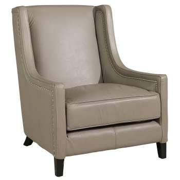 Sessel aus Leder hell