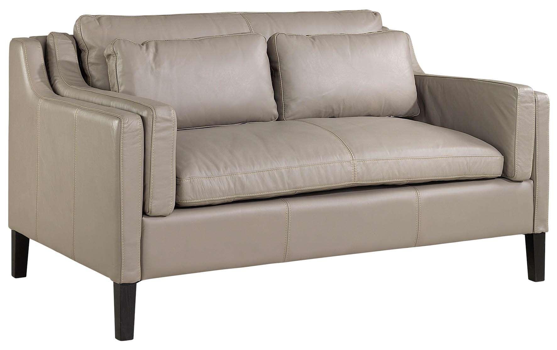 Sofa Manchester 2-osobowa skórzana jasna 150x91x87