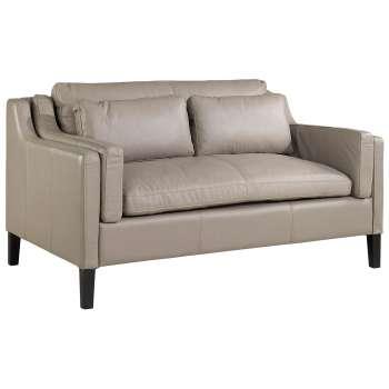 Sofa Manchester 2-osobowa skórzana jasna -30%