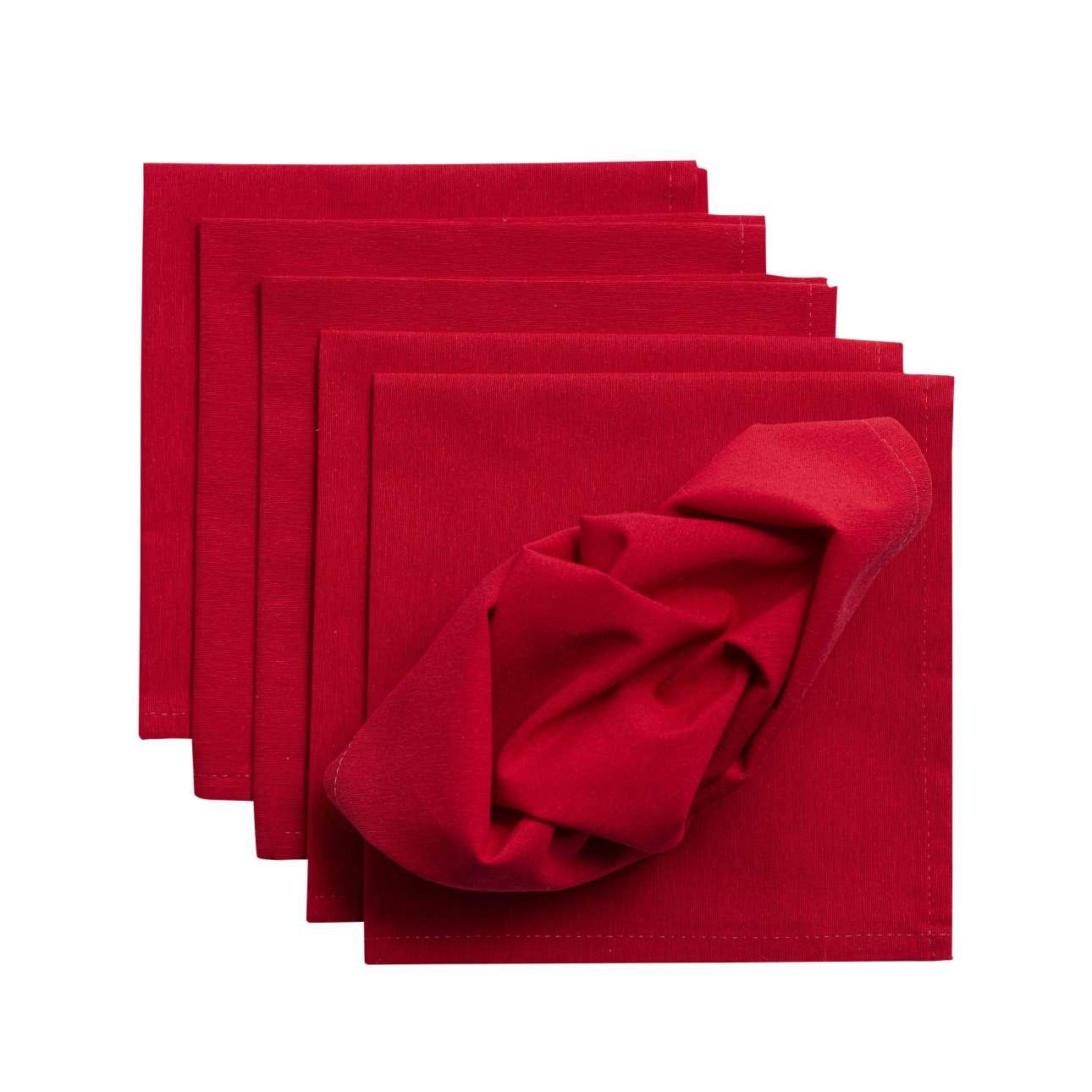 Sada 6 ks prostírání 42x42cm látka Quadro červená