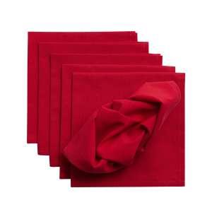 komplet 6szt serwetek 42x42cm quadro czerwone 42x42