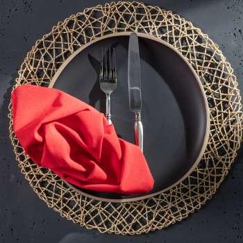 komplet 6szt serwetek 42x42cm quadro czerwone