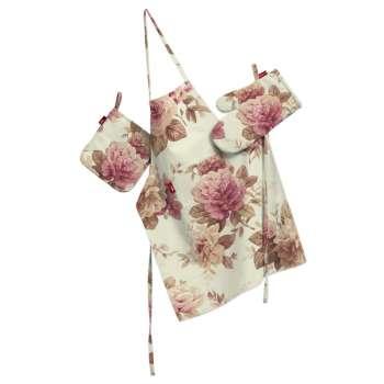 Komplet kuchenny fartuch,rękawica i łapacz kpl w kolekcji Mirella, tkanina: 141-06
