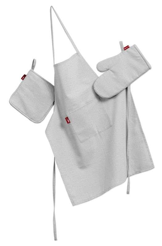 Komplet kuchenny łapacz, rękawica oraz fartuch kpl w kolekcji Linen, tkanina: 392-04