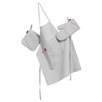 Komplet kuchenny fartuch,rękawica i łapacz kpl w kolekcji Linen, tkanina: 392-04