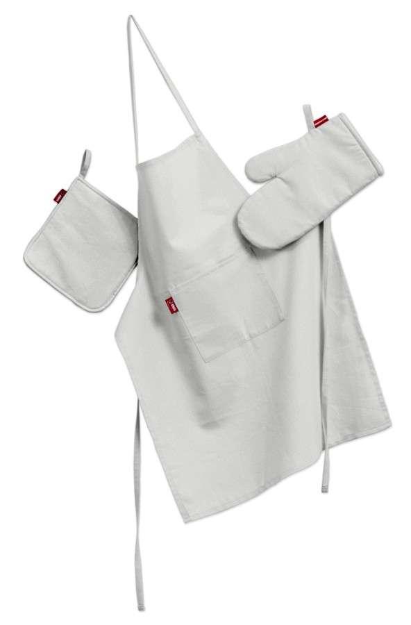 Tekstilės rinkinys virtuvei: prijuostė, puodų laikiklis ir orkaitės pirštinės Rinkinys kolekcijoje Loneta , audinys: 133-02