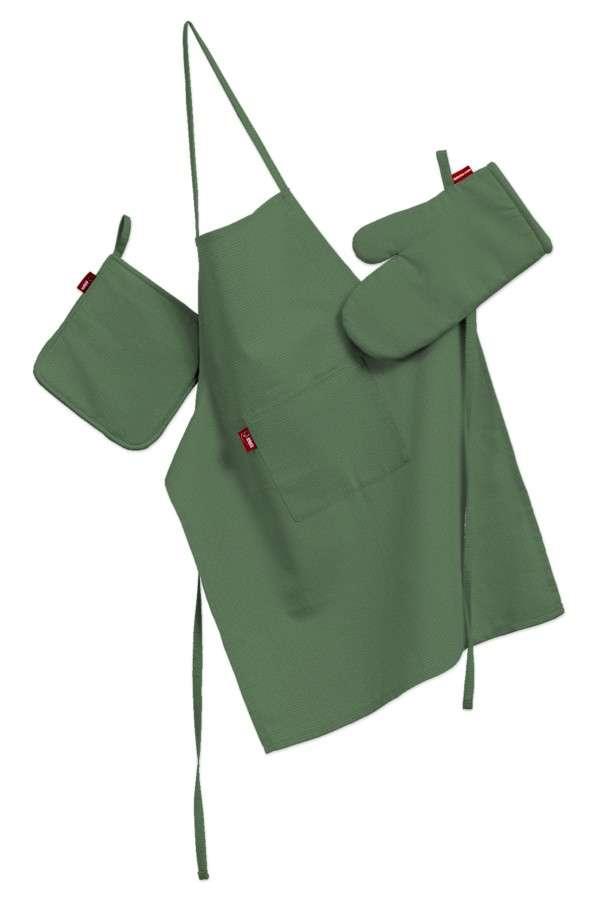 Tekstilės rinkinys virtuvei: prijuostė, puodų laikiklis ir orkaitės pirštinės Rinkinys kolekcijoje Loneta , audinys: 133-18