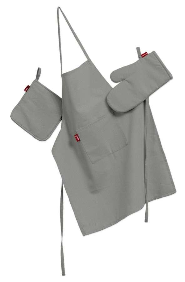 Komplet kuchenny łapacz, rękawica oraz fartuch kpl w kolekcji Loneta, tkanina: 133-24