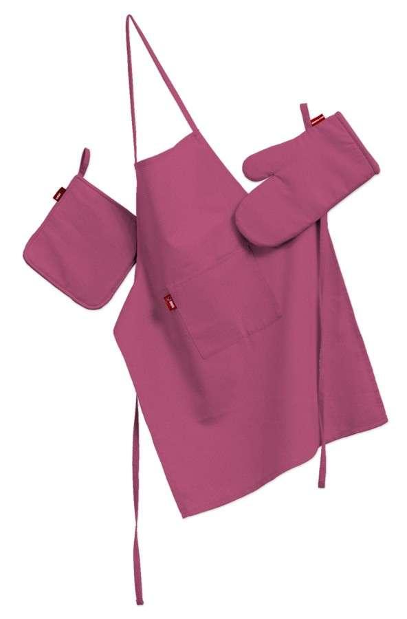 Tekstilės rinkinys virtuvei: prijuostė, puodų laikiklis ir orkaitės pirštinės kolekcijoje Loneta , audinys: 133-60