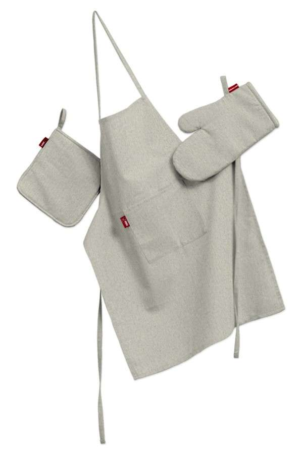 Komplet kuchenny łapacz, rękawica oraz fartuch kpl w kolekcji Loneta, tkanina: 133-65