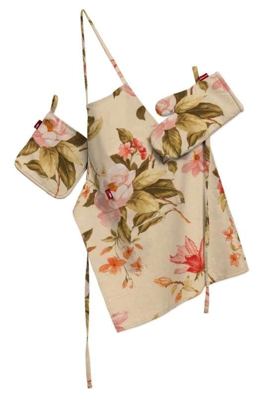Tekstilės rinkinys virtuvei: prijuostė, puodų laikiklis ir orkaitės pirštinės Rinkinys kolekcijoje Londres, audinys: 123-05