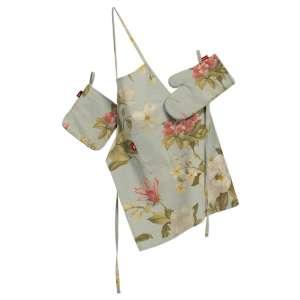 Tekstilės rinkinys virtuvei: prijuostė, puodų laikiklis ir orkaitės pirštinės Rinkinys kolekcijoje Londres, audinys: 123-65