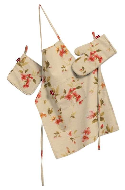 Tekstilės rinkinys virtuvei: prijuostė, puodų laikiklis ir orkaitės pirštinės Rinkinys kolekcijoje Londres, audinys: 124-05
