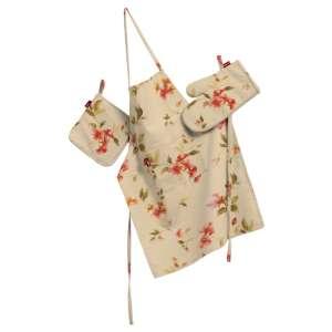 Komplet kuchenny łapacz, rękawica oraz fartuch kpl w kolekcji Londres, tkanina: 124-05
