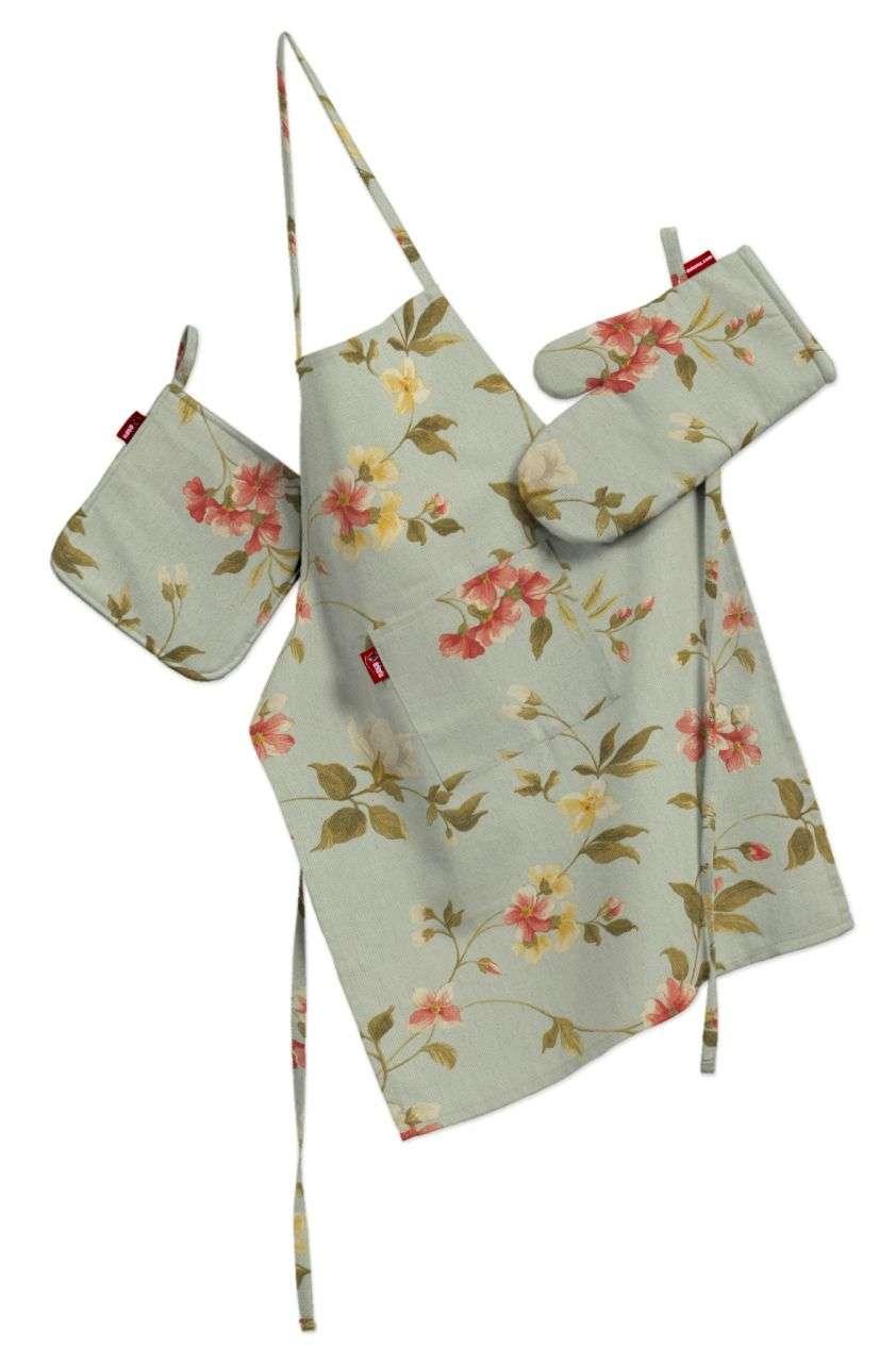 Komplet kuchenny fartuch,rękawica i łapacz kpl w kolekcji Londres, tkanina: 124-65