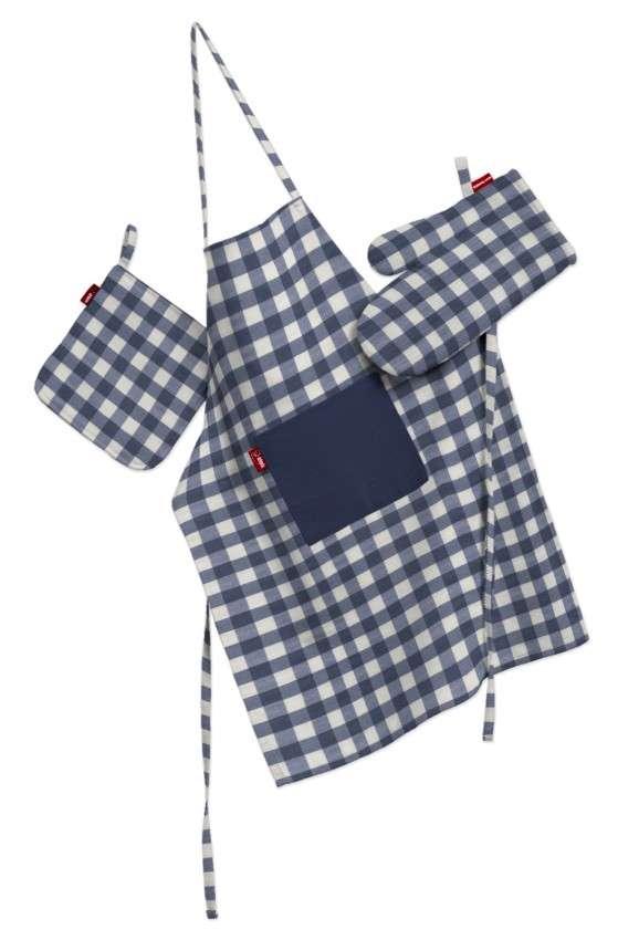 Komplet kuchenny łapacz, rękawica oraz fartuch kpl w kolekcji Quadro, tkanina: 136-01
