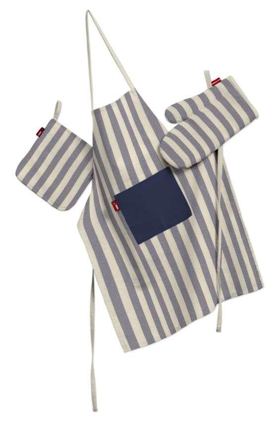 Küchenset: Schürze, Handschuh, Topflappen Set von der Kollektion Quadro, Stoff: 136-02