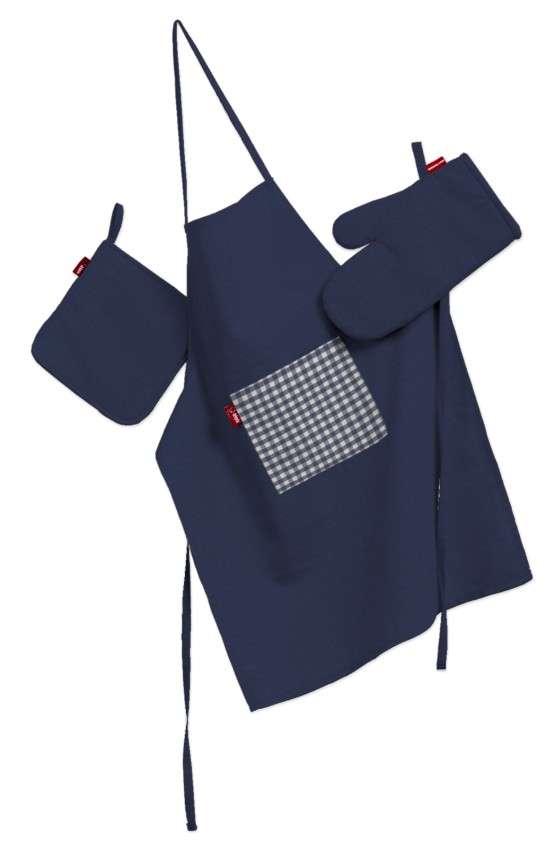 Küchenset: Schürze, Handschuh, Topflappen Set von der Kollektion Quadro, Stoff: 136-04