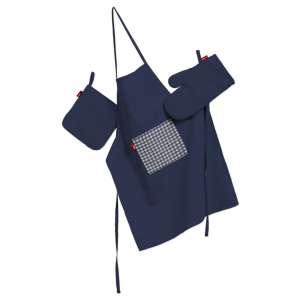 Tekstilės rinkinys virtuvei: prijuostė, puodų laikiklis ir orkaitės pirštinės Rinkinys kolekcijoje Quadro, audinys: 136-04