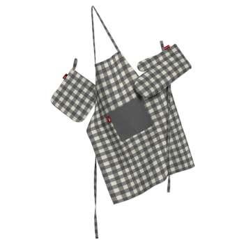 Komplet kuchenny fartuch,rękawica i łapacz kpl w kolekcji Quadro, tkanina: 136-11