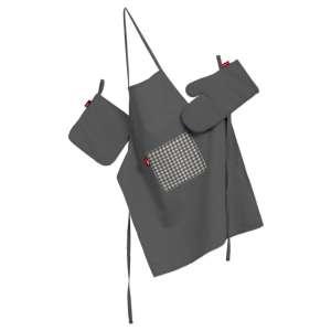 Komplet kuchenny łapacz, rękawica oraz fartuch kpl w kolekcji Quadro, tkanina: 136-14