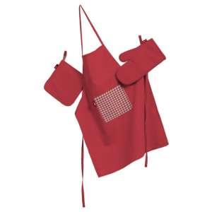 Küchenset: Schürze, Handschuh, Topflappen Set von der Kollektion Quadro, Stoff: 136-19