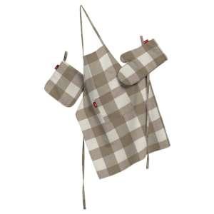 Komplet kuchenny fartuch,rękawica i łapacz kpl w kolekcji Quadro, tkanina: 136-08