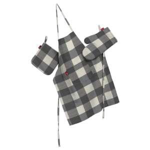 Tekstilės rinkinys virtuvei: prijuostė, puodų laikiklis ir orkaitės pirštinės Rinkinys kolekcijoje Quadro, audinys: 136-13