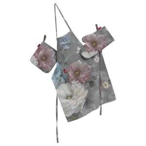 Komplet kuchenny łapacz, rękawica oraz fartuch kpl w kolekcji Monet, tkanina: 137-81
