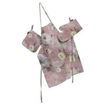 Komplet kuchenny fartuch,rękawica i łapacz kpl w kolekcji Monet, tkanina: 137-83