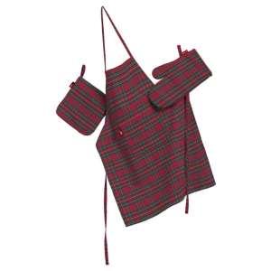 Komplet kuchenny łapacz, rękawica oraz fartuch kpl w kolekcji Bristol, tkanina: 126-29