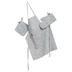Komplet kuchenny fartuch,rękawica i łapacz kpl w kolekcji Venice, tkanina: 140-50