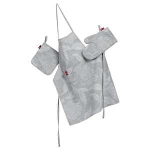 Küchenset: Schürze, Handschuh, Topflappen Set von der Kollektion Venice, Stoff: 140-51