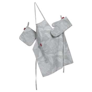 Küchenset: Schürze, Handschuh, Topflappen