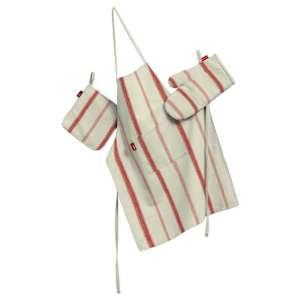Køkkensæt: forklæde, handske og grydelap kpl fra kollektionen Avinon, Stof: 129-15