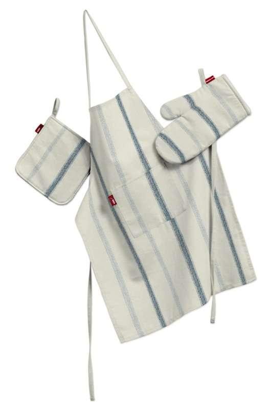 Komplet kuchenny fartuch,rękawica i łapacz kpl w kolekcji Avinon, tkanina: 129-66