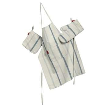 Tekstilės rinkinys virtuvei: prijuostė, puodų laikiklis ir orkaitės pirštinės Rinkinys kolekcijoje Avinon, audinys: 129-66