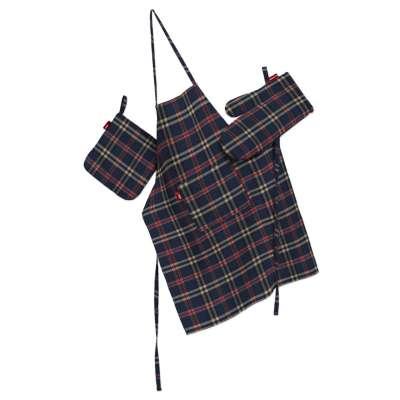 Komplet kuchenny fartuch,rękawica i łapacz w kolekcji Bristol, tkanina: 142-68
