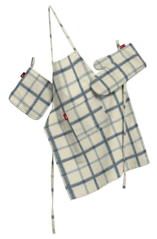 Komplet kuchenny łapacz, rękawica oraz fartuch kpl w kolekcji Avinon, tkanina: 131-66