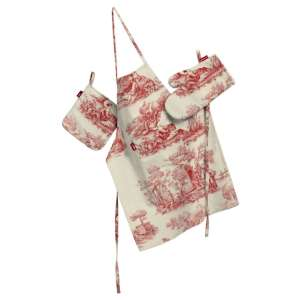 Tekstilės rinkinys virtuvei: prijuostė, puodų laikiklis ir orkaitės pirštinės Rinkinys kolekcijoje Avinon, audinys: 132-15