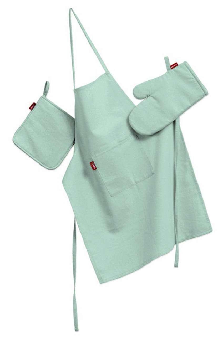 Komplet kuchenny fartuch,rękawica i łapacz w kolekcji Loneta, tkanina: 133-37