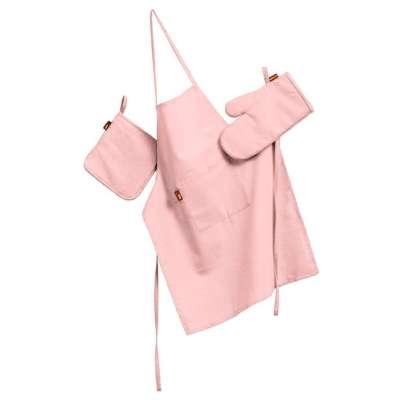 Køkkensæt: forklæde, handske og grydelap 133-39 Lyserød Kollektion Loneta