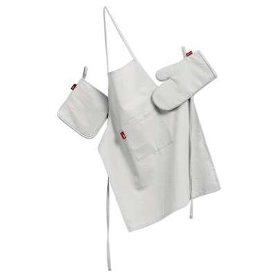 Küchenset: Schürze, Handschuh, Topflappen 127-01 weiss Kollektion Jupiter
