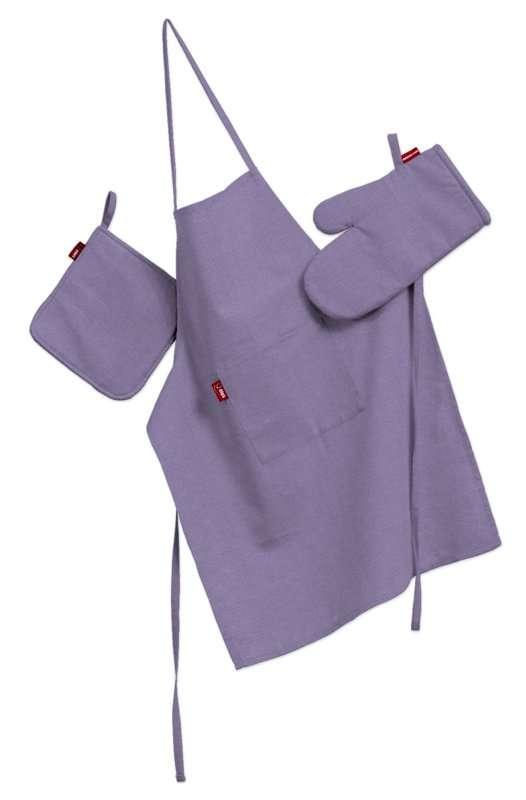 Küchenset: Schürze, Handschuh, Topflappen Set von der Kollektion Jupiter, Stoff: 127-74