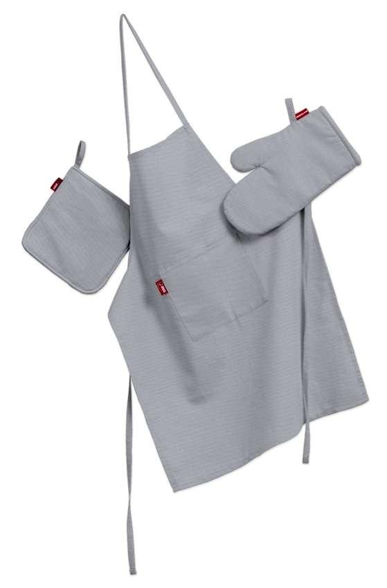 Tekstilės rinkinys virtuvei: prijuostė, puodų laikiklis ir orkaitės pirštinės Rinkinys kolekcijoje Jupiter, audinys: 127-92