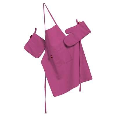 Keukenset: schort, handschoenen, pannenlap 127-24 roze Collectie Jupiter